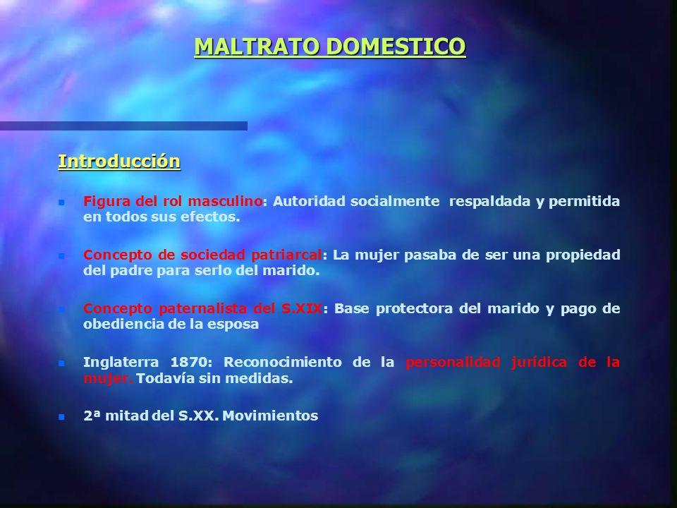 MALTRATO DOMESTICO Introducción