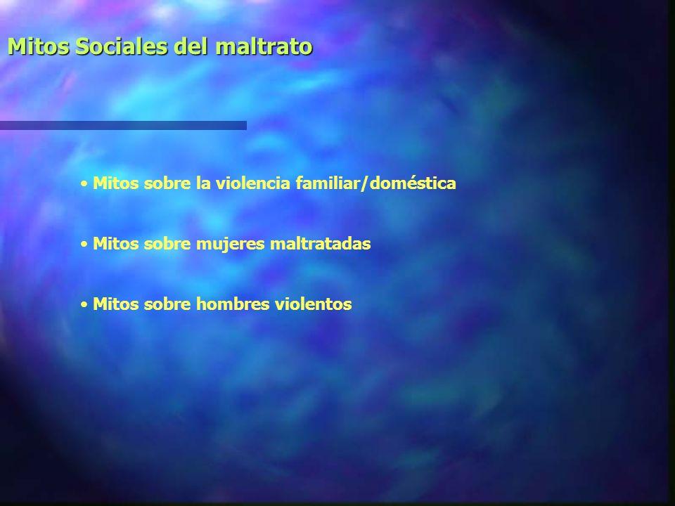 Mitos Sociales del maltrato
