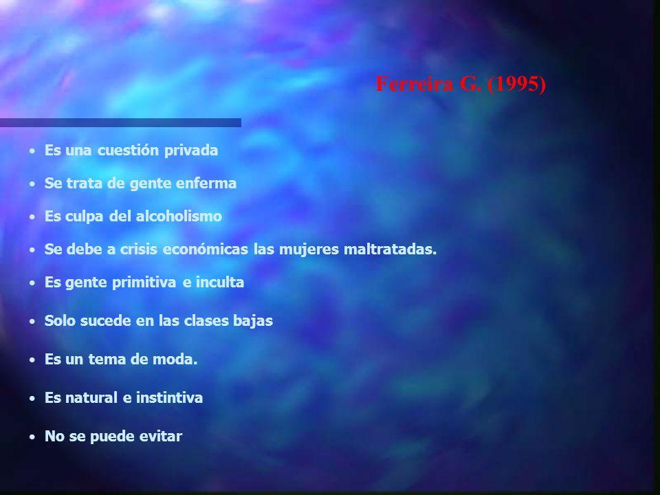 Ferreira G. (1995) Es una cuestión privada Se trata de gente enferma