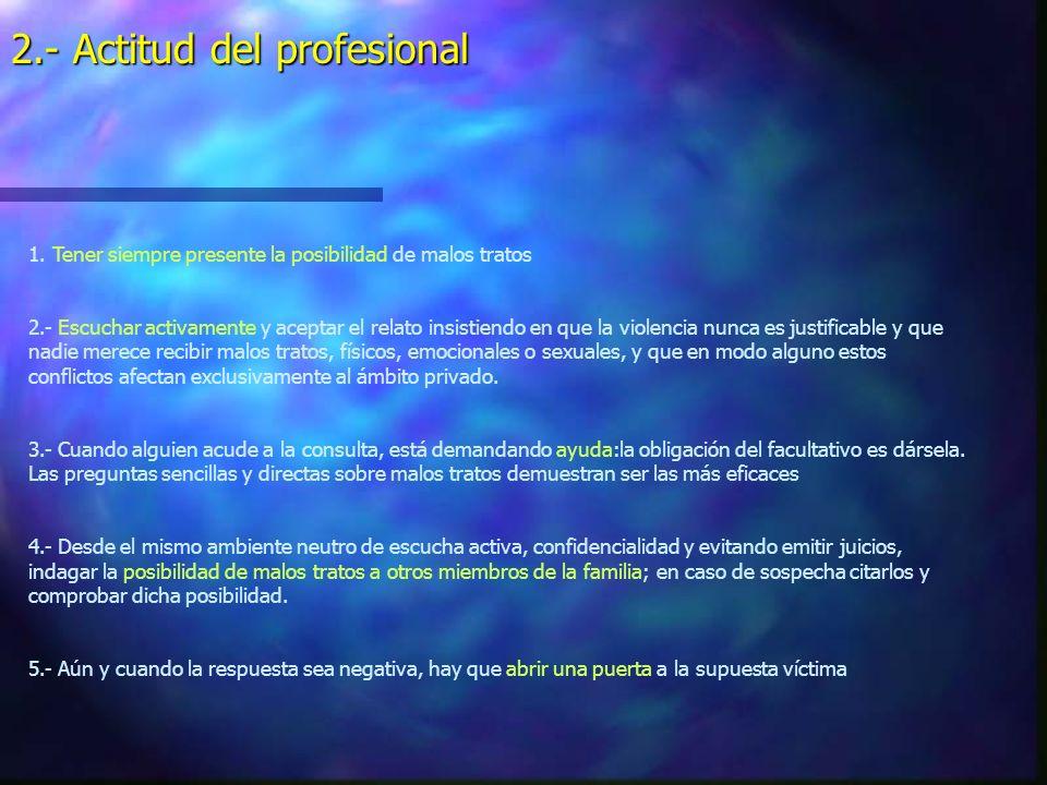 2.- Actitud del profesional