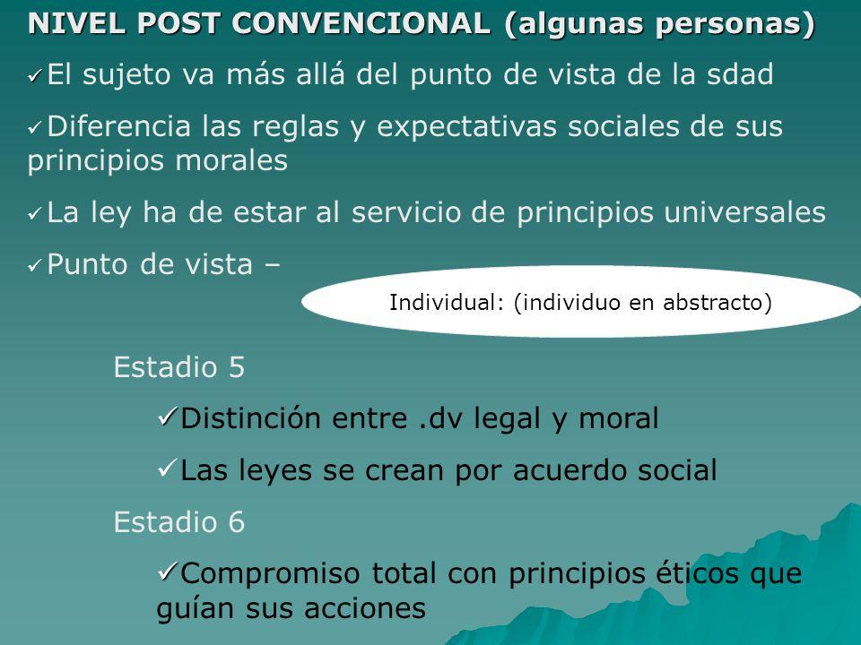 Individual: (individuo en abstracto)
