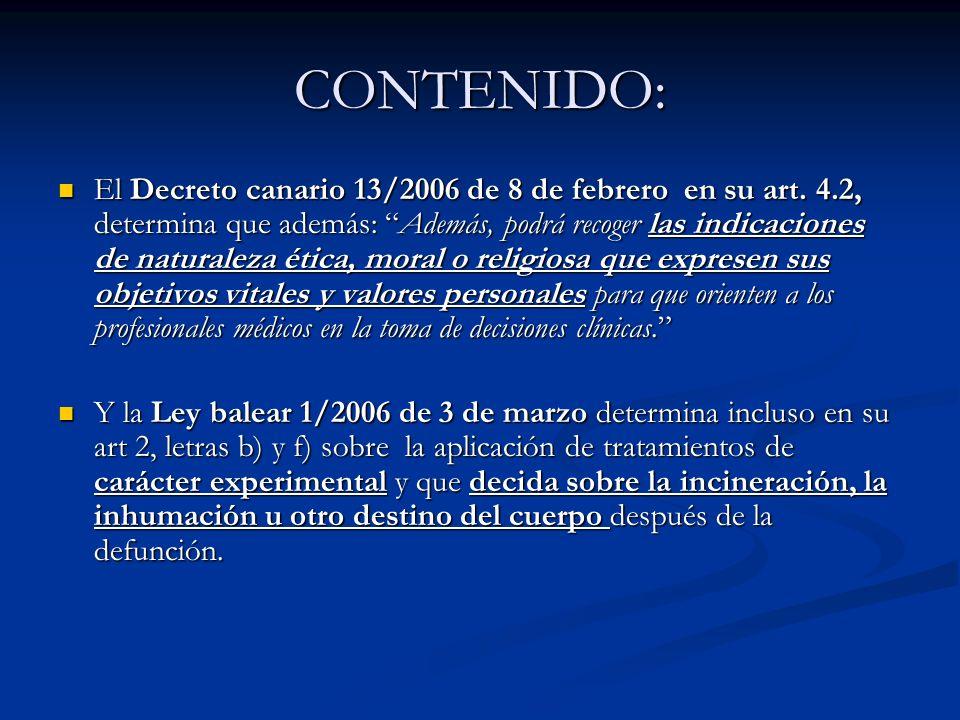 CONTENIDO: