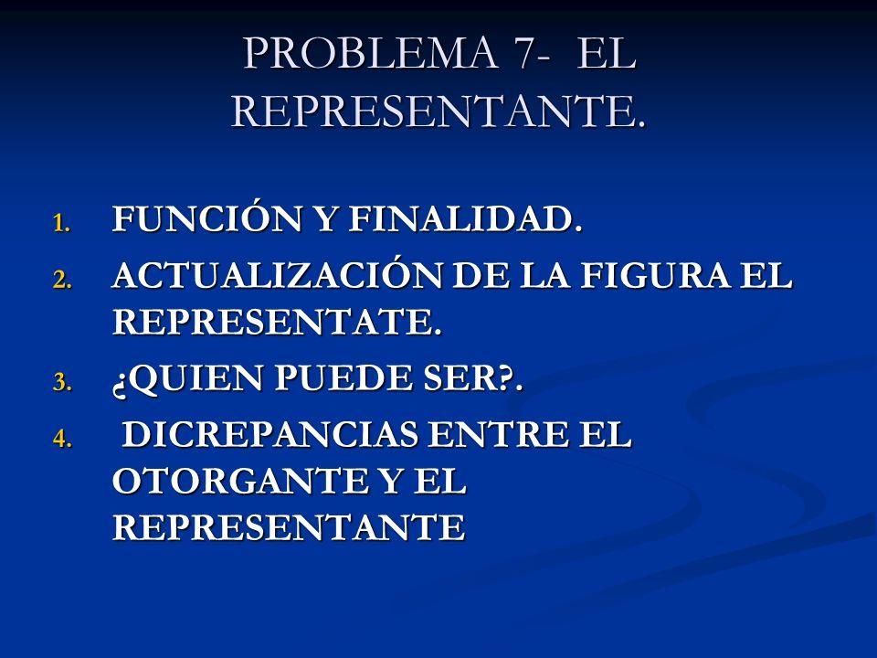 PROBLEMA 7- EL REPRESENTANTE.