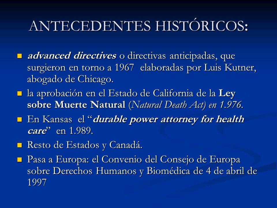 ANTECEDENTES HISTÓRICOS: