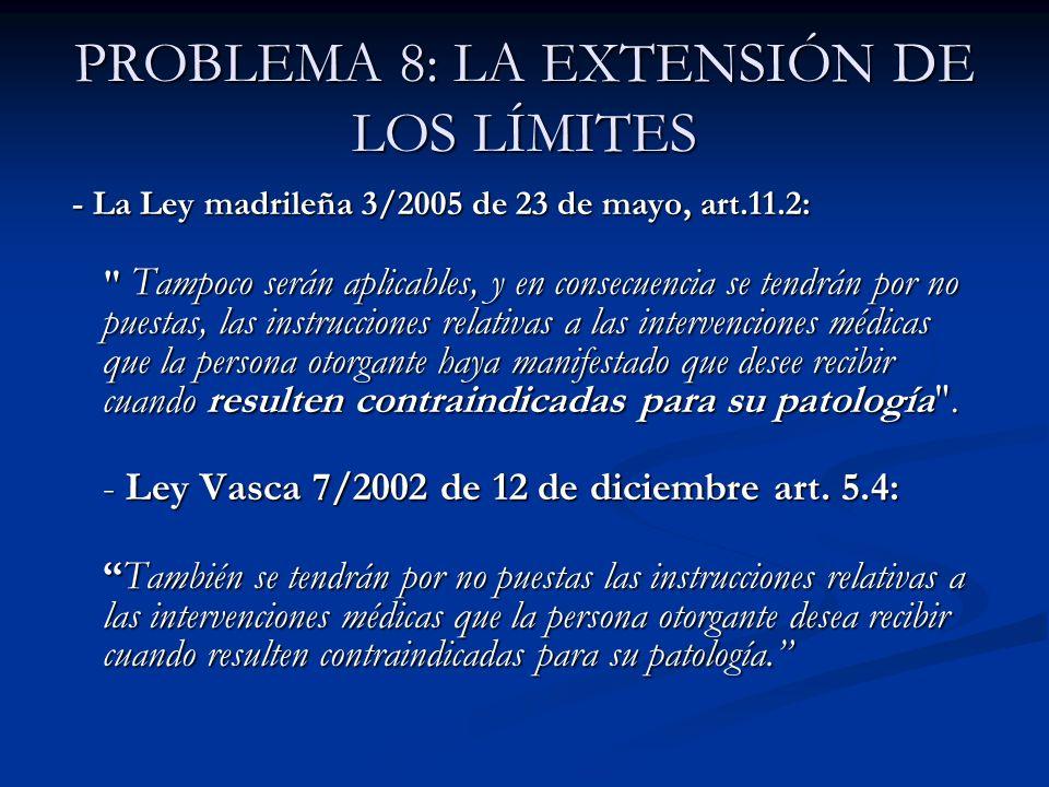 PROBLEMA 8: LA EXTENSIÓN DE LOS LÍMITES