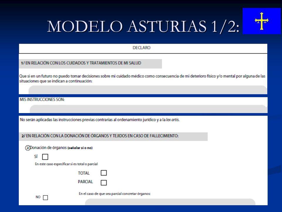 MODELO ASTURIAS 1/2: