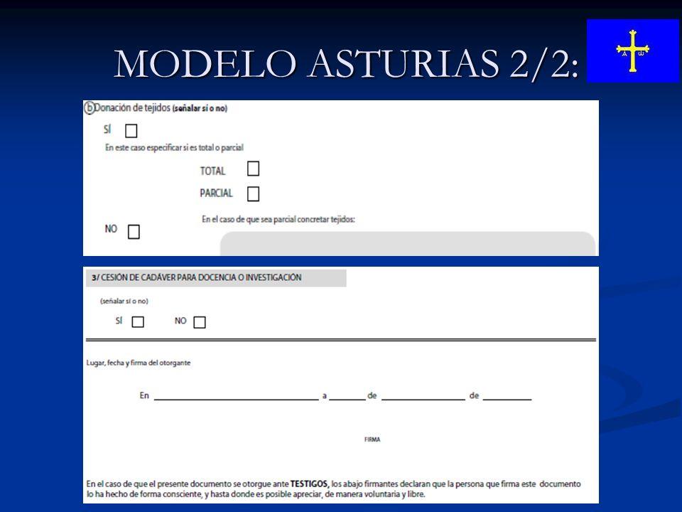 MODELO ASTURIAS 2/2: