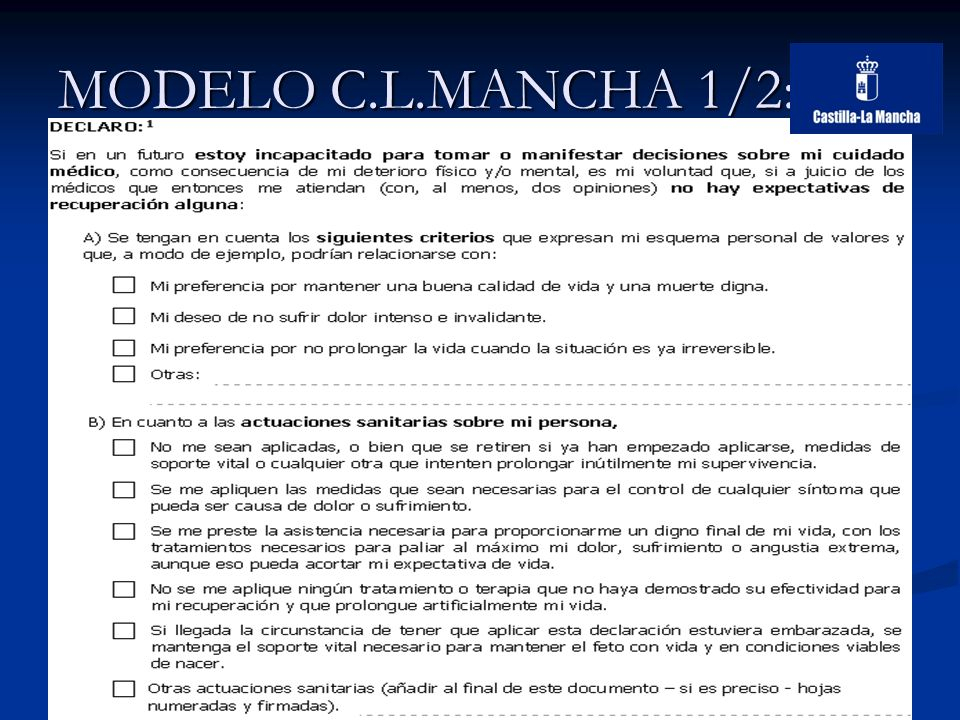 MODELO C.L.MANCHA 1/2: