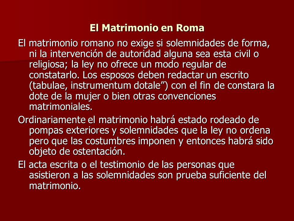 El Matrimonio en Roma