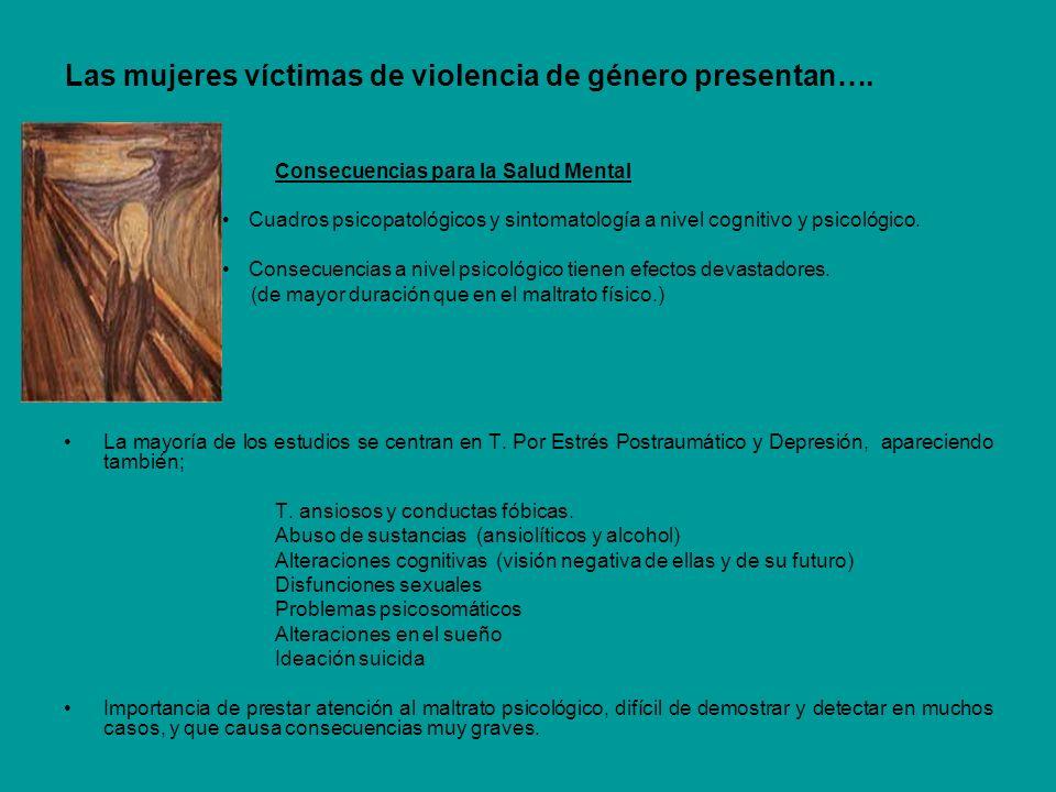 Las mujeres víctimas de violencia de género presentan….