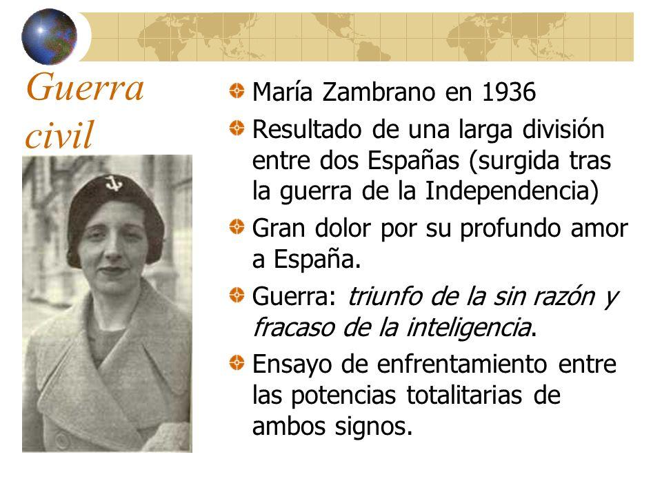 Guerra civil María Zambrano en 1936