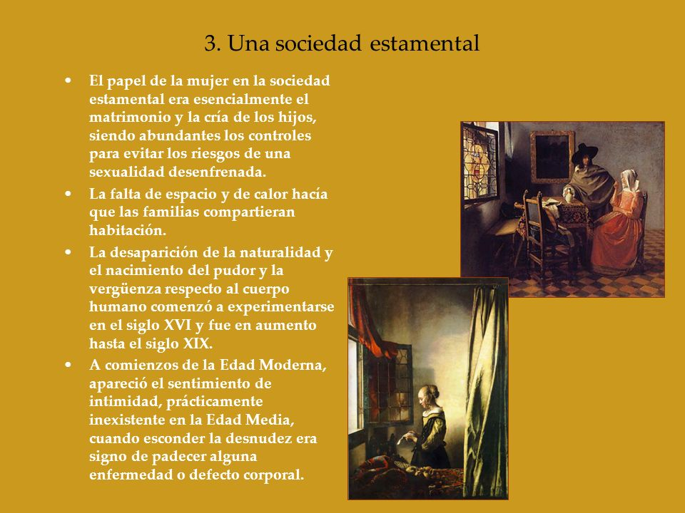 3. Una sociedad estamental
