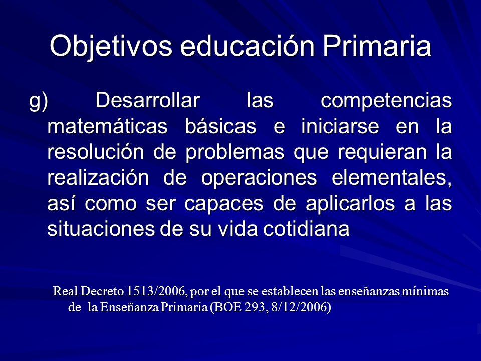 Objetivos educación Primaria