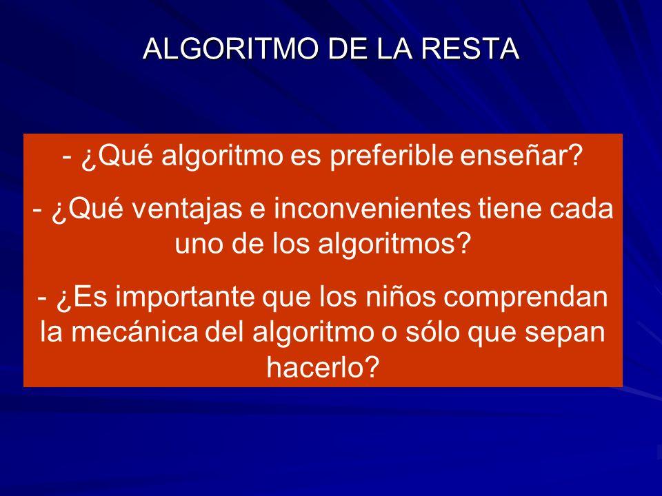 ¿Qué algoritmo es preferible enseñar