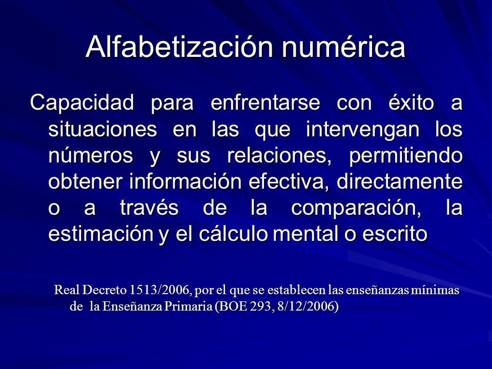 Alfabetización numérica