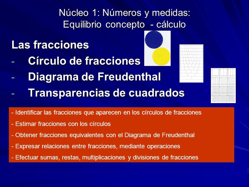 Núcleo 1: Números y medidas: Equilibrio concepto - cálculo