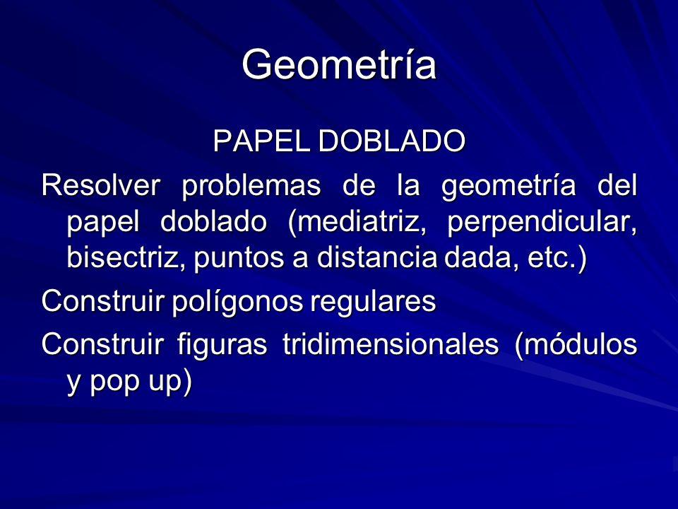 Geometría PAPEL DOBLADO