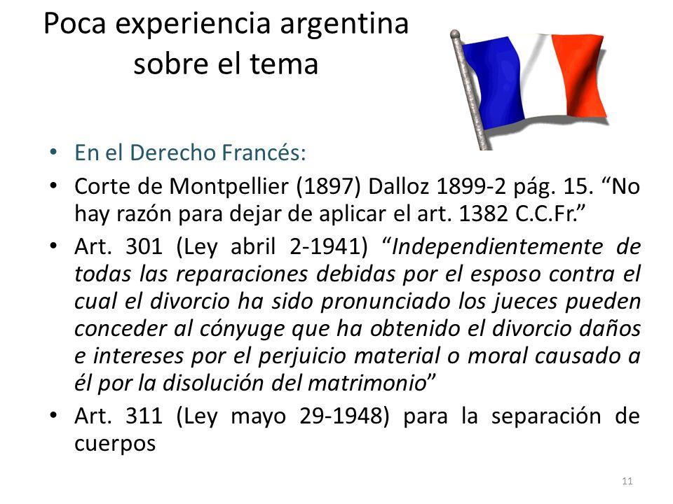 Poca experiencia argentina sobre el tema