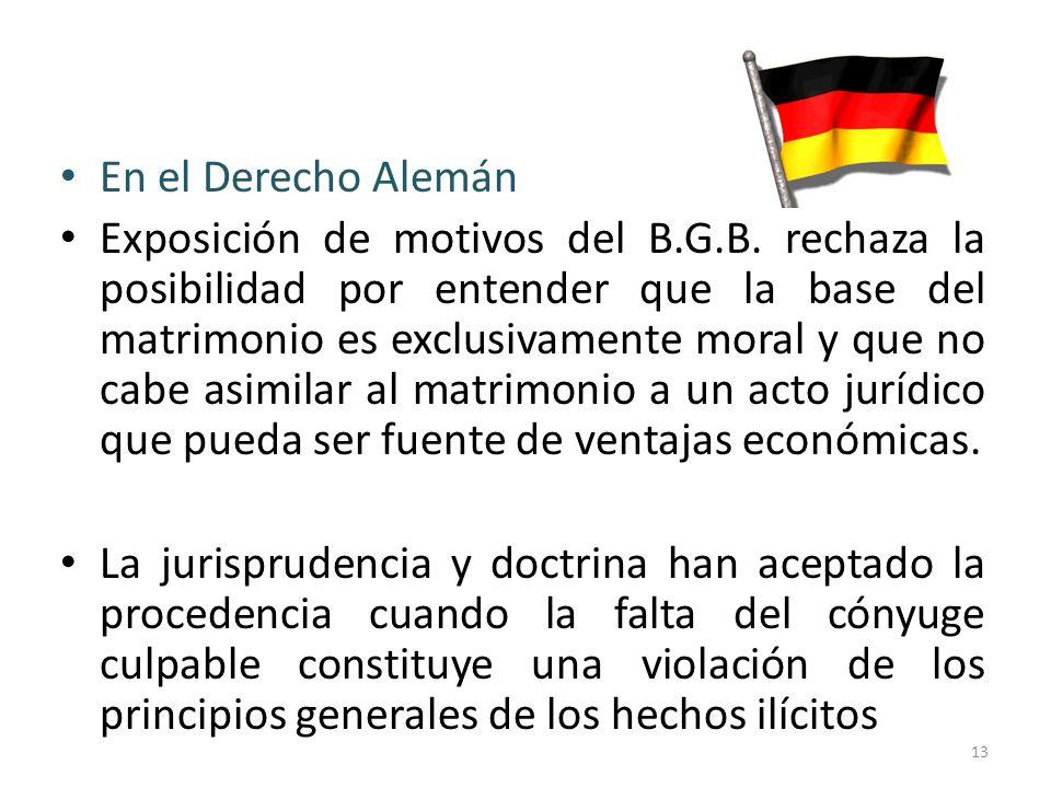 En el Derecho Alemán