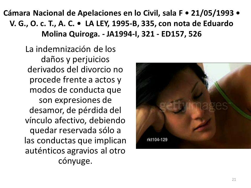 Cámara Nacional de Apelaciones en lo Civil, sala F • 21/05/1993 • V. G