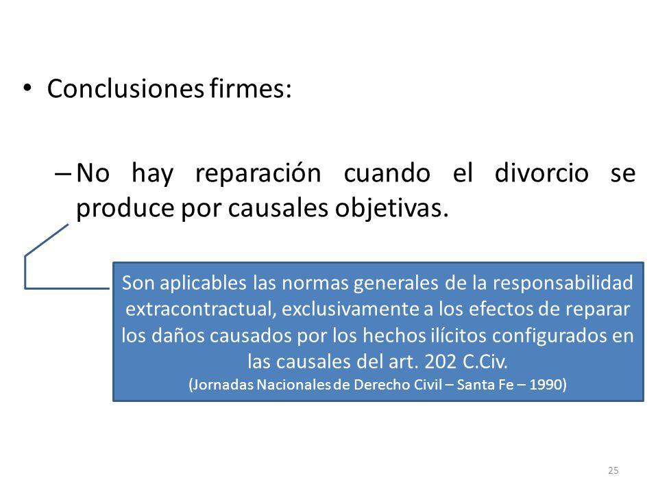 (Jornadas Nacionales de Derecho Civil – Santa Fe – 1990)