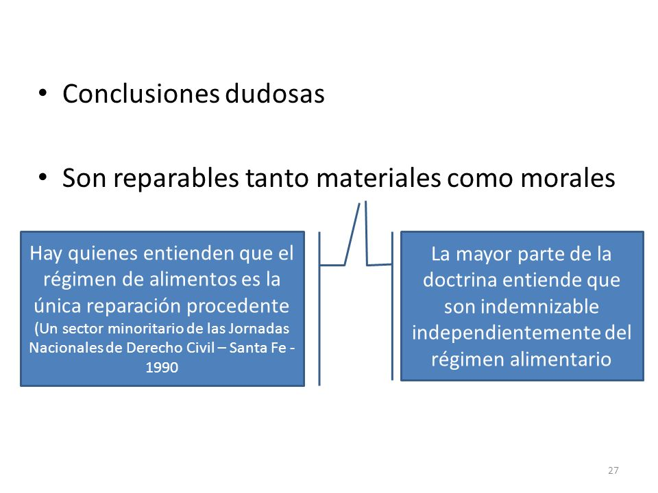 Son reparables tanto materiales como morales