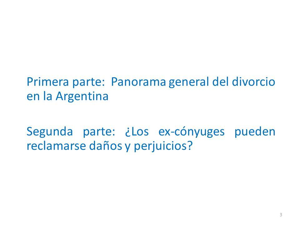 Primera parte: Panorama general del divorcio en la Argentina
