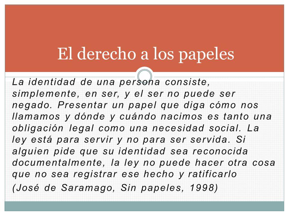 El derecho a los papeles
