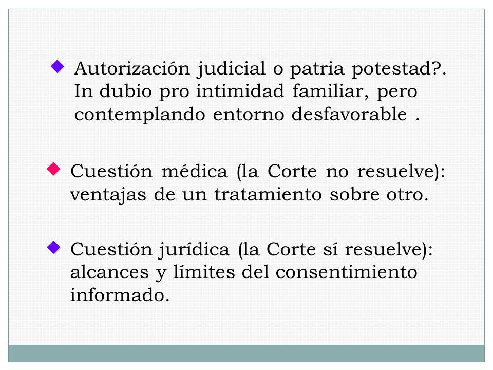 Autorización judicial o patria potestad