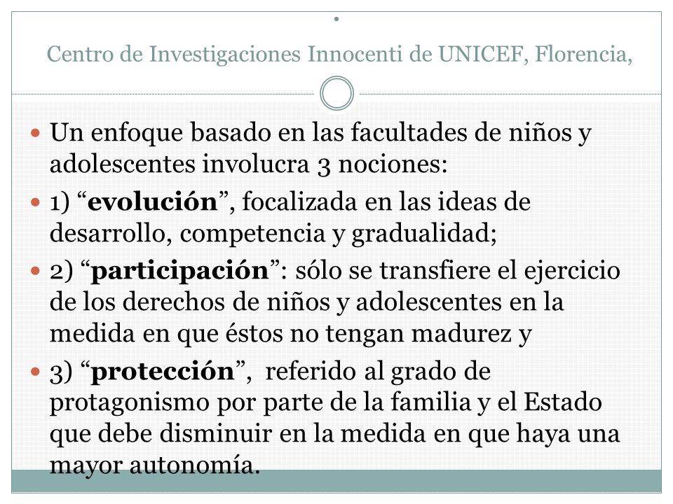 . Centro de Investigaciones Innocenti de UNICEF, Florencia,