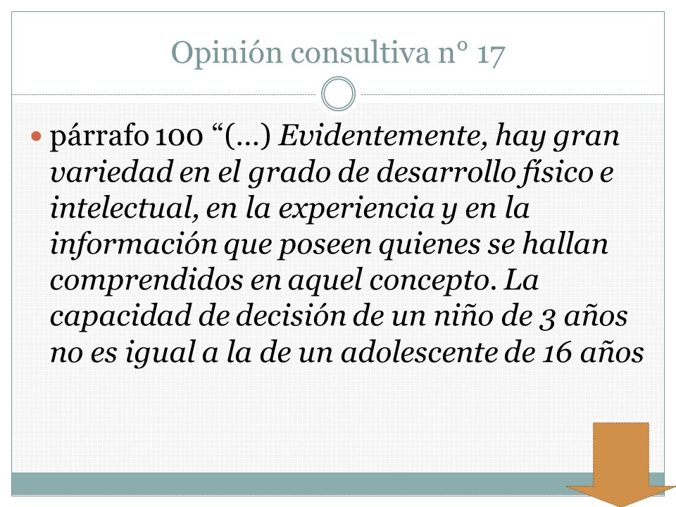 Opinión consultiva n° 17
