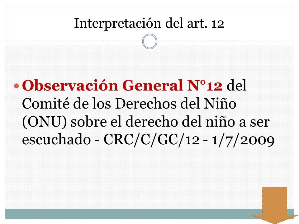 Interpretación del art. 12