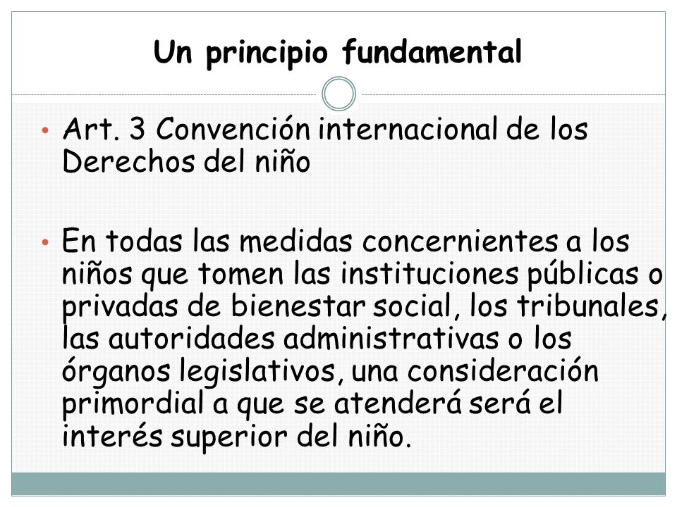 Un principio fundamental