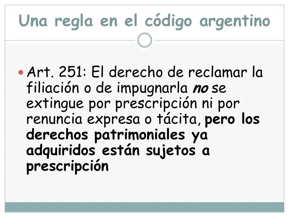 Una regla en el código argentino