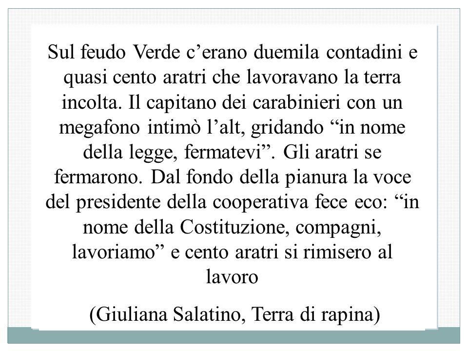 (Giuliana Salatino, Terra di rapina)