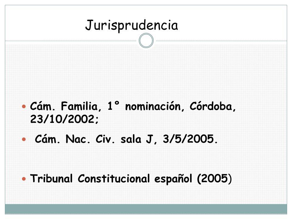 Jurisprudencia Cám. Familia, 1° nominación, Córdoba, 23/10/2002;