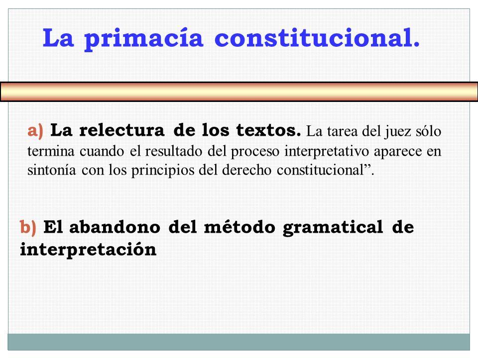 La primacía constitucional.
