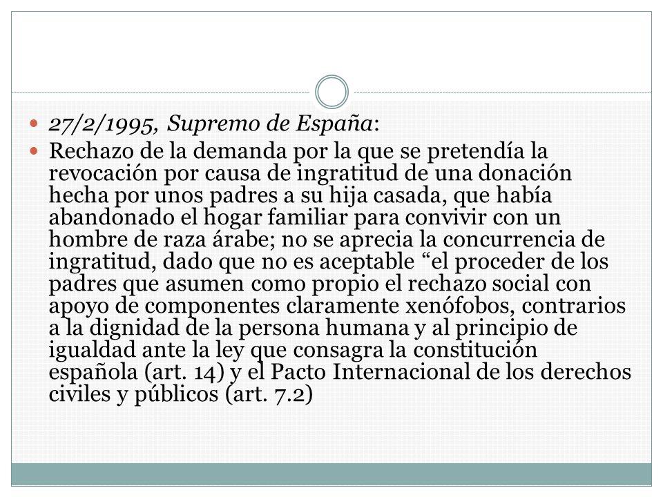 27/2/1995, Supremo de España: