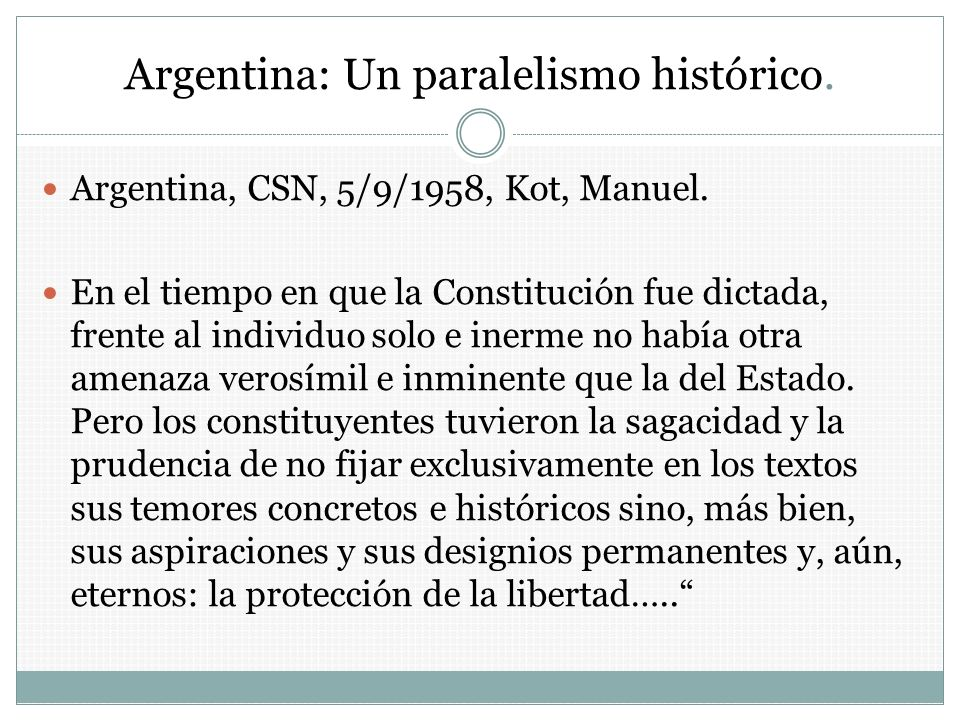 Argentina: Un paralelismo histórico.