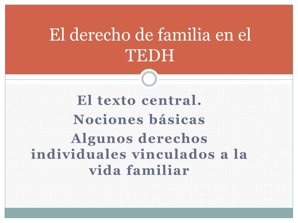 El derecho de familia en el TEDH
