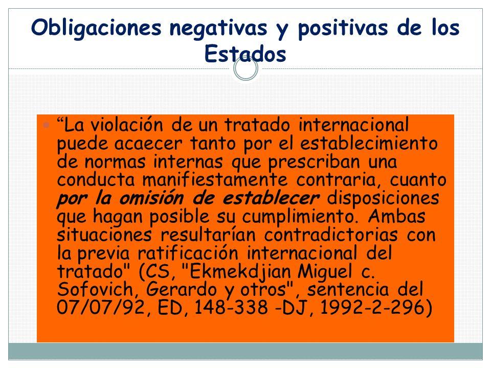 Obligaciones negativas y positivas de los Estados