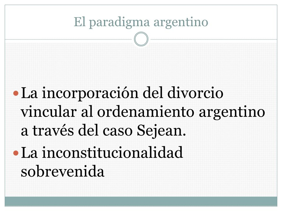 El paradigma argentino