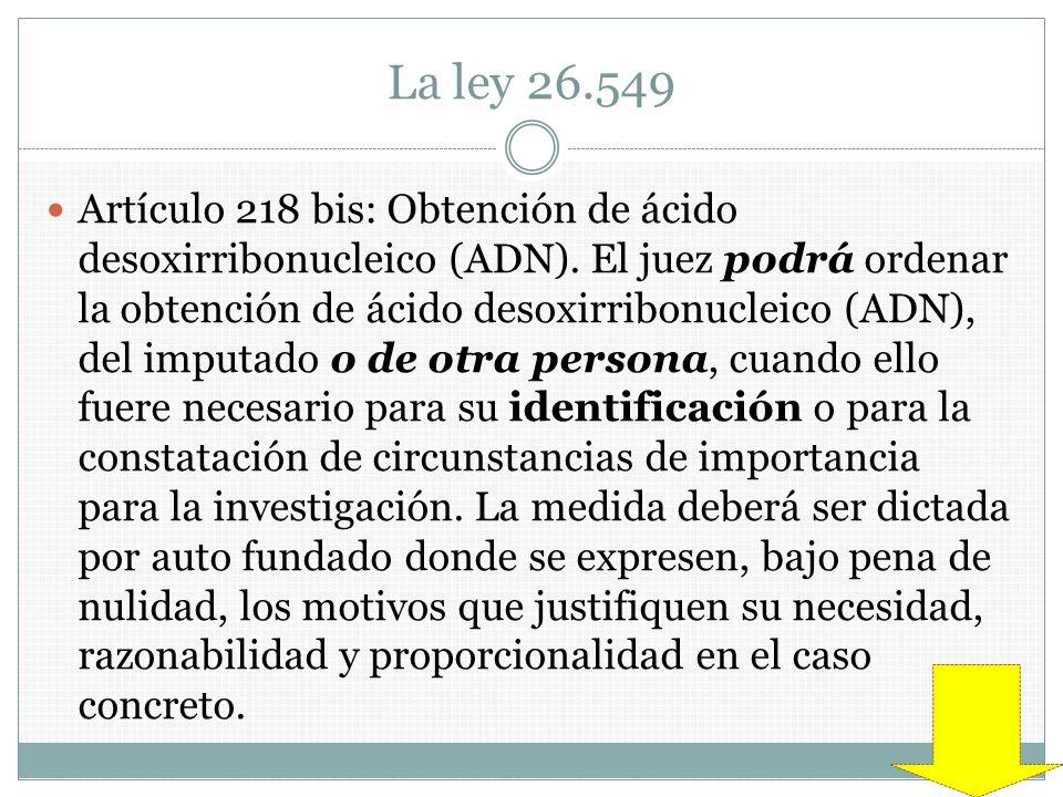 La ley 26.549