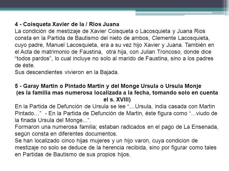 4 - Coisqueta Xavier de la / Rios Juana