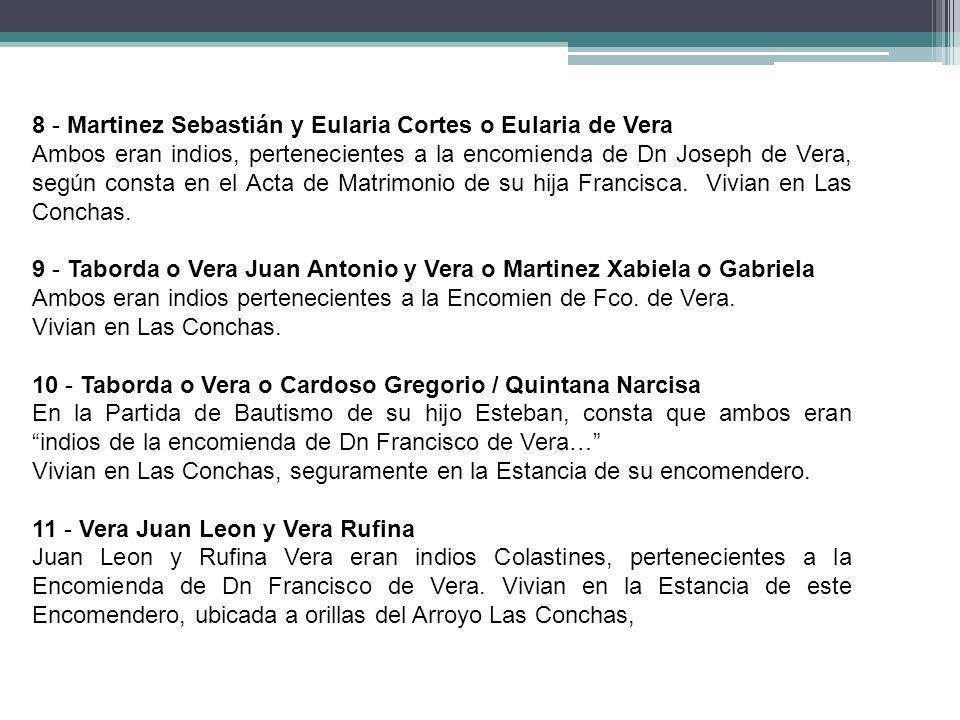 8 - Martinez Sebastián y Eularia Cortes o Eularia de Vera