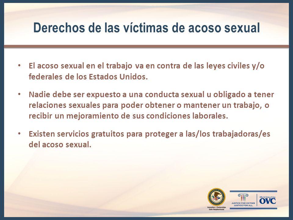Derechos de las víctimas de acoso sexual