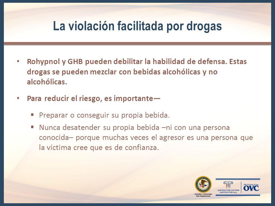 La violación facilitada por drogas