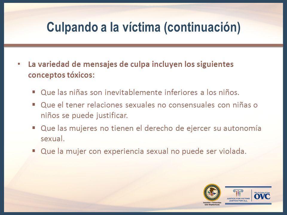 Culpando a la víctima (continuación)