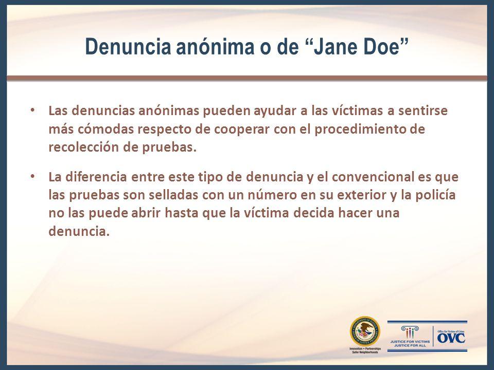 Denuncia anónima o de Jane Doe
