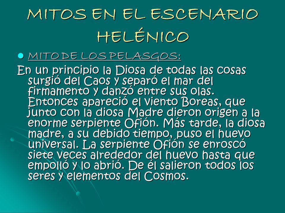 MITOS EN EL ESCENARIO HELÉNICO